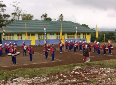 Opening ceremony for the new school building of SMPN I Cigalontang in Tasikmalaya that was reconstructed with funds of the Tasik Children Foundation and with support of HIRH Gabriela von Habsburg, Kempinski Indonesia Hotel, Mr Leon Halders, and Mr Elmar Bouma in 2010