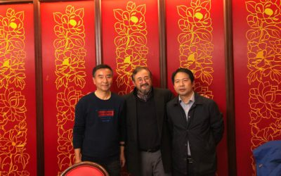 From left to right: Mr He Xintian, Secretary General of the Chinese farmers association CAAA, RDPPA, Prof. Prof. Zhang Junmin, Head of the Institute of Animal Science of the China Academy of Agricultural Science. Agreement to cooperate to combat AMR prior to the 2020 regulation banning in-feed antibiotics in China. (November 2019)