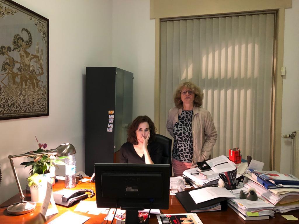 Senior Adviser Dr Daniëlle van Dalen and Deputy Director International Projects Karen Meesen, PA Brussels Office