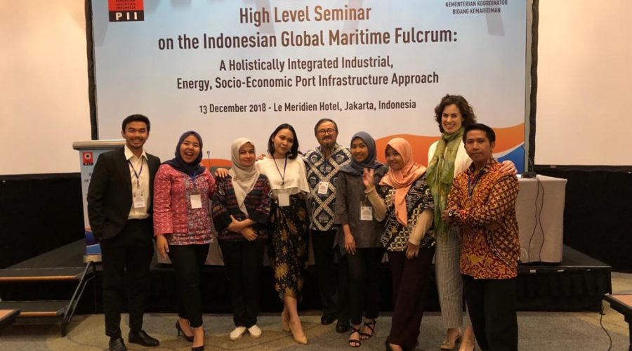The PA team that assisted with the organization of the maritime infrastructure conference in Jakarta on 13 December 2018